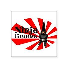 """Unique Ninja gnome Square Sticker 3"""" x 3"""""""