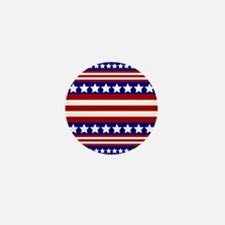 Stars and Stripes Mini Button (10 pack)