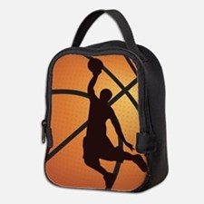Basketball dunk Neoprene Lunch Bag