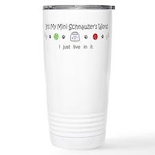 Unique Schnauzer dad Travel Mug