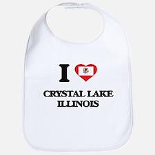 I love Crystal Lake Illinois Bib