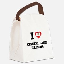 I love Crystal Lake Illinois Canvas Lunch Bag