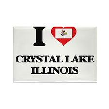 I love Crystal Lake Illinois Magnets