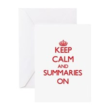 Keep Calm and Summaries ON Greeting Cards