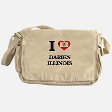 I love Darien Illinois Messenger Bag
