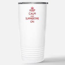 Keep Calm and Summertim Travel Mug