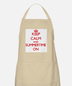 Keep Calm and Summertime ON Apron
