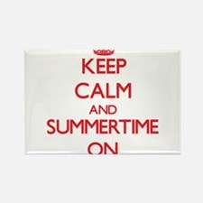 Keep Calm and Summertime ON Magnets