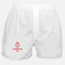 Keep Calm and Summertime ON Boxer Shorts