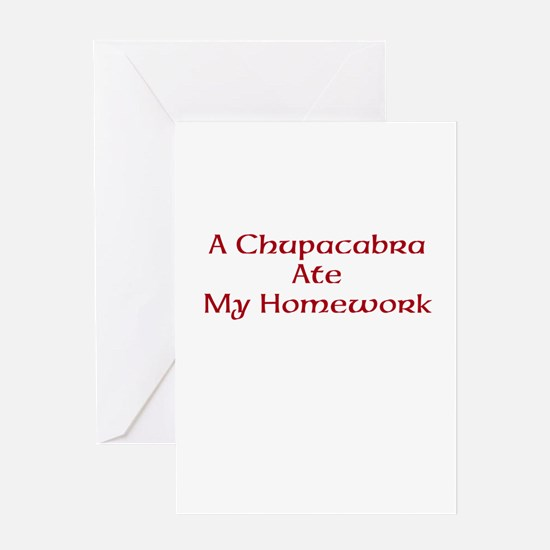 Bad Chupacabra! Greeting Cards