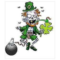 Zombie Leprechaun Bowling Poster