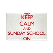 Keep Calm and Sunday School ON Magnets