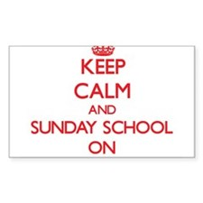 Keep Calm and Sunday School ON Decal