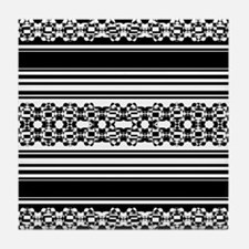 Lace and Stripes Tile Coaster