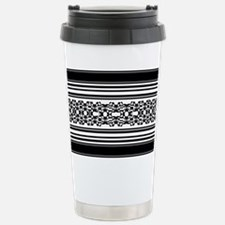 Lace and Stripes Travel Mug