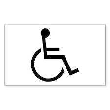 Wheel Chair Rectangle Decal