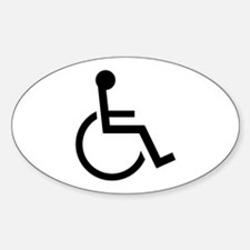 Wheel Chair Oval Decal