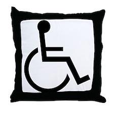 Wheel Chair Throw Pillow