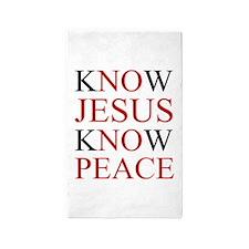Know Jesus Know Peace Area Rug