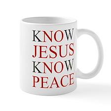 Know Jesus Know Peace Mugs