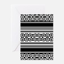 Lace and Stripes Greeting Cards