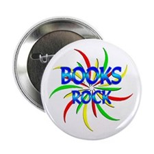 "Books Rock 2.25"" Button"