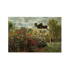 Claude Monet's Garden at Argenteuil Magnets