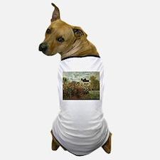 Claude Monet's Garden at Argenteuil Dog T-Shirt