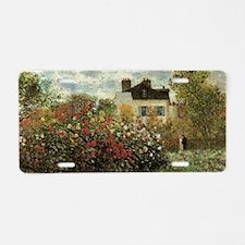 Claude Monet's Garden at Ar Aluminum License Plate