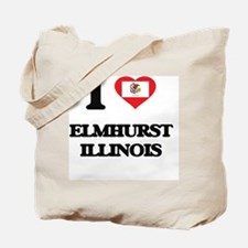 I love Elmhurst Illinois Tote Bag