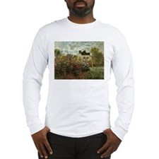 Claude Monet's Garden at Argen Long Sleeve T-Shirt