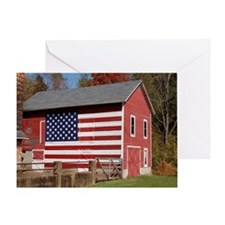 Barn Flag Greeting Cards