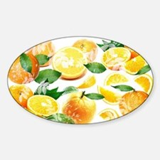 Bitter Oranges from Amalfi Sticker (Oval)