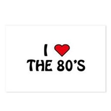 I Love The 80's Postcards (Package of 8)