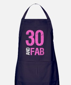 Fabulous 30th Birthday Apron (dark)