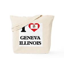 I love Geneva Illinois Tote Bag