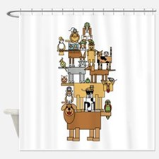 Acrobatic Pets Shower Curtain