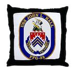 USS JOHN L. HALL Throw Pillow