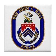 USS JOHN L. HALL Tile Coaster