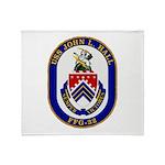 USS JOHN L. HALL Throw Blanket