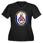 USS JOHN L. Women's Plus Size V-Neck Dark T-Shirt