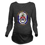 USS JOHN L. HALL Long Sleeve Maternity T-Shirt