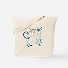 Siamese please cat Tote Bag