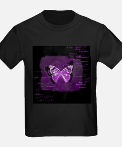 Purple and black butterfly grunge T-Shirt