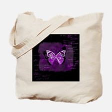 Purple and black butterfly grunge Tote Bag