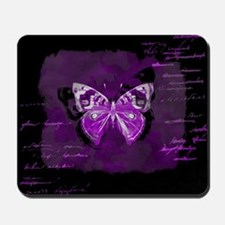 Purple and black butterfly grunge Mousepad
