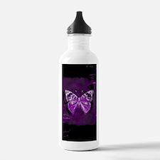 Purple and black butte Sports Water Bottle