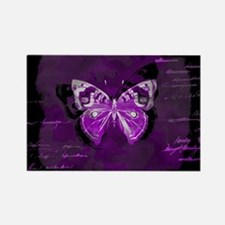 Purple and black butterfly grunge Magnets