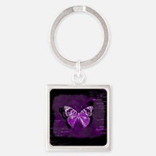Purple and black butterfly grunge Keychains