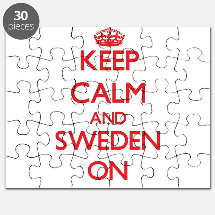 Keep Calm and Sweden ON Puzzle